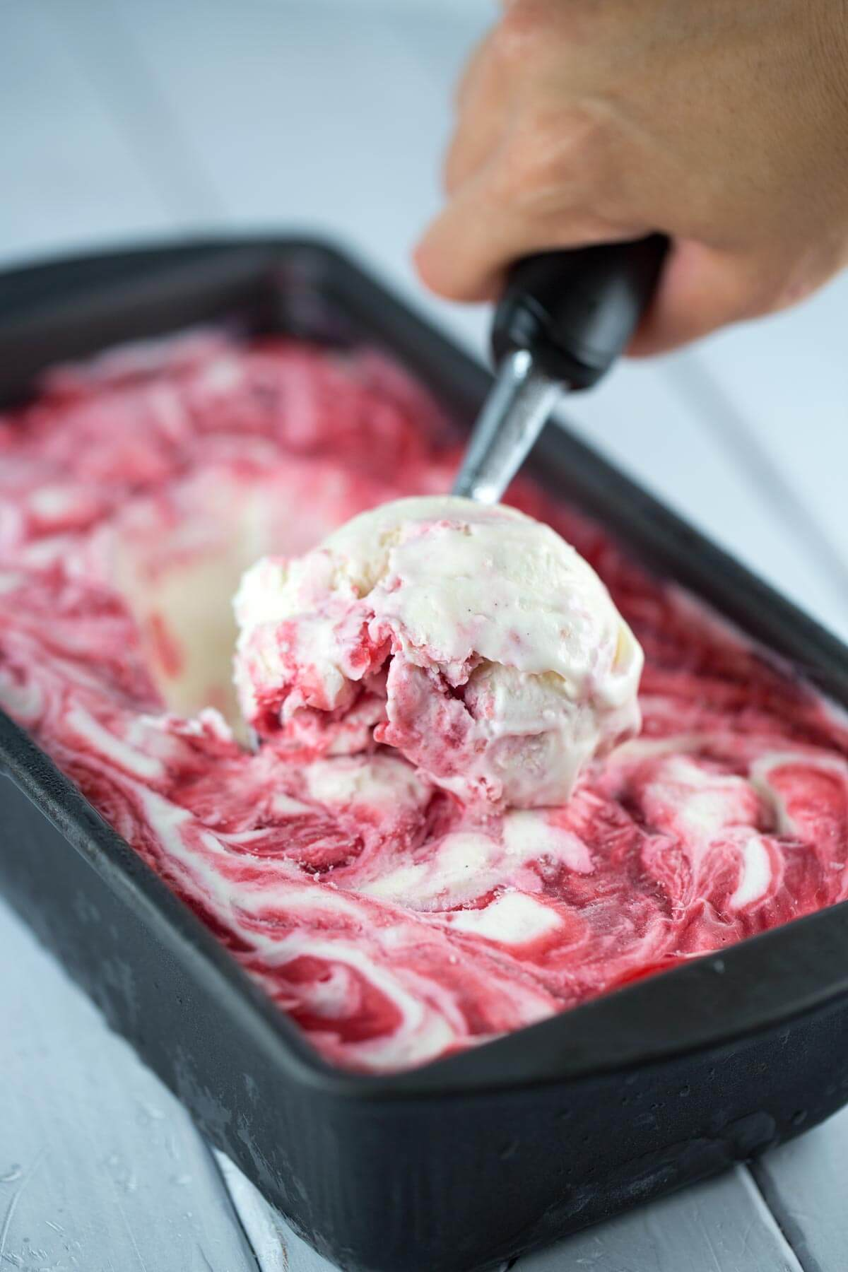 Raspberry No Churn Ice Cream - Recipes To Survive A Heatwave