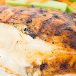 A delicious low-carb recipe, this buffalo chicken is stuffed with cheese then grilled to perfection.
