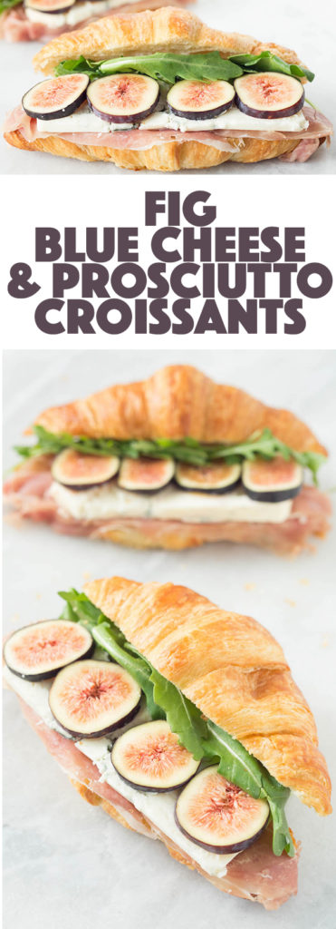 Fig, Prosciutto, & Blue Cheese Croissant Sandwich - Fig Recipes