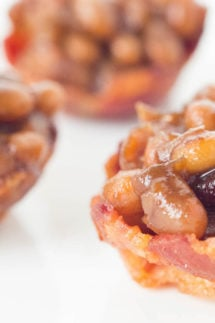 Homemade Baked Beans in Mini Bacon Cups Recipe