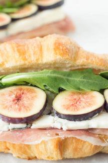 Fig, Blue Cheese, & Prosciutto Croissant Sandwich Recipe