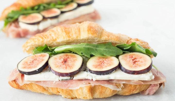Fig, Blue Cheese, & Prosciutto Croissant Sandwich