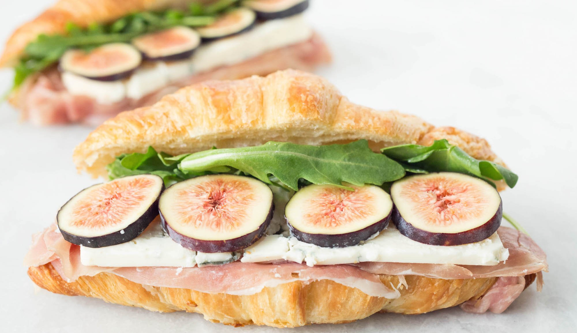 Fig, Blue Cheese, & Prosciutto Croissant Sandwich