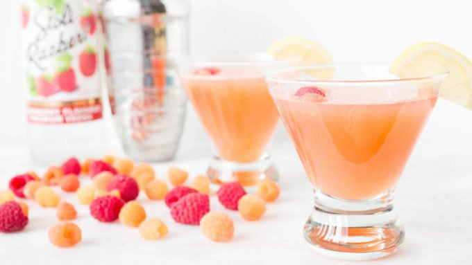 Pink Lemonade Raspberry Cocktail - A refreshing Summer cocktail featuring Stoli vodka.
