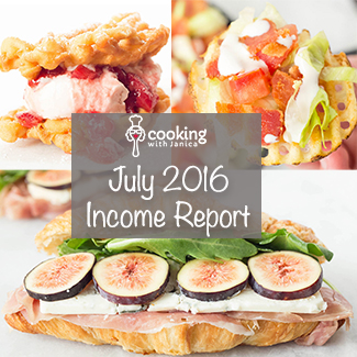 Food Blogger Income Report July 2016