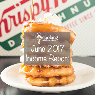 June 2017 Food Blog Traffic & Income Report - Cooking With Janica