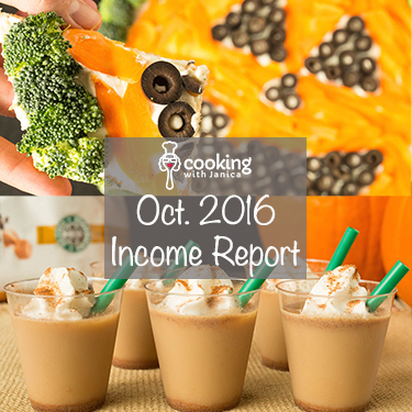 October 2016 Food Blog Traffic & Income Report - Cooking With Janica
