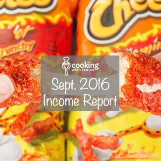 Food Blogger Income Report - Cooking With Janica - September 2016
