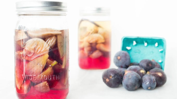Learn how to make fig infused vodka with vanilla beans.