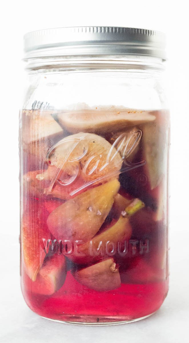 Homemade Fig & Vanilla Bean Vodka recipe.
