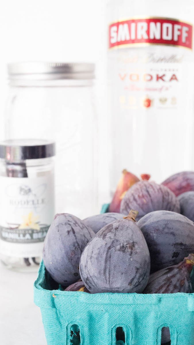Ingredients for Fig Infused Vodka recipe