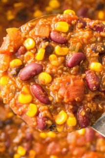This Meatless Quinoa Chili recipe is so savory, most people don't even realize it's vegetarian!