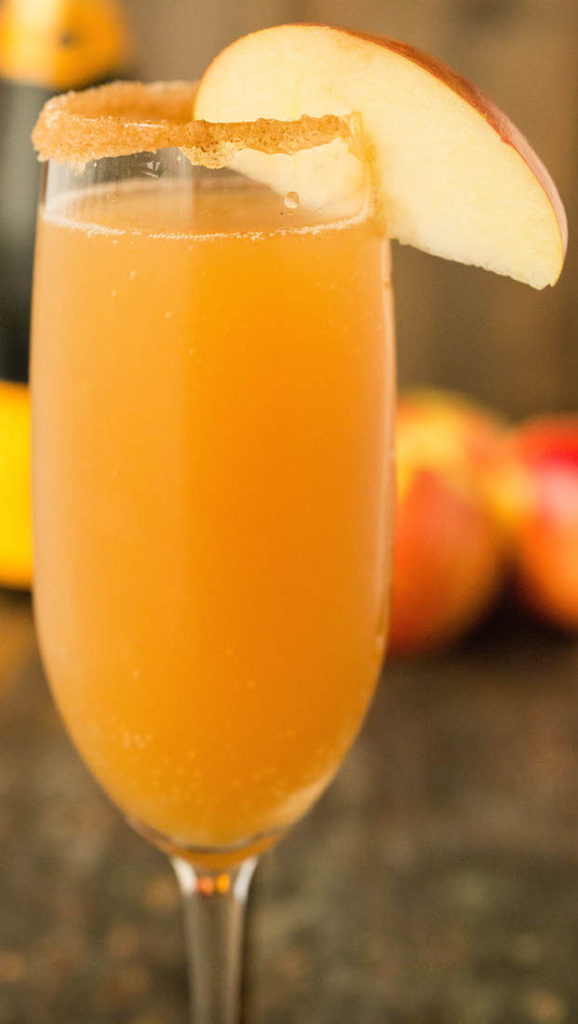 Apple Cider Mimosa Recipe - Fall Mimosas 4 Ways