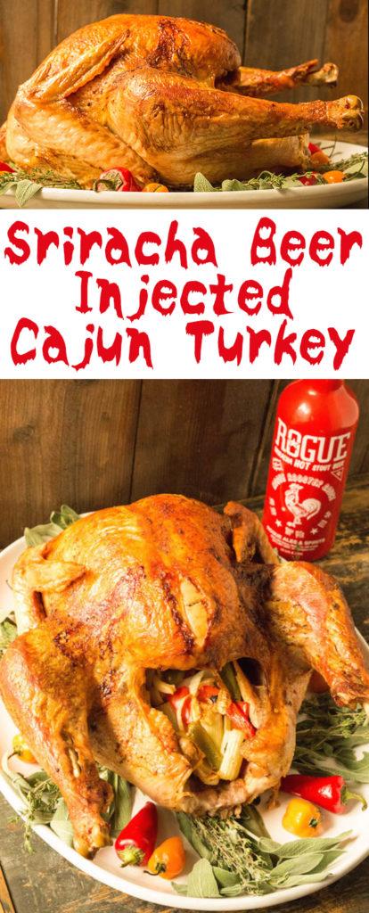 Sriracha Beer Injected Cajun Turkey - Thanksgiving Turkey Recipes