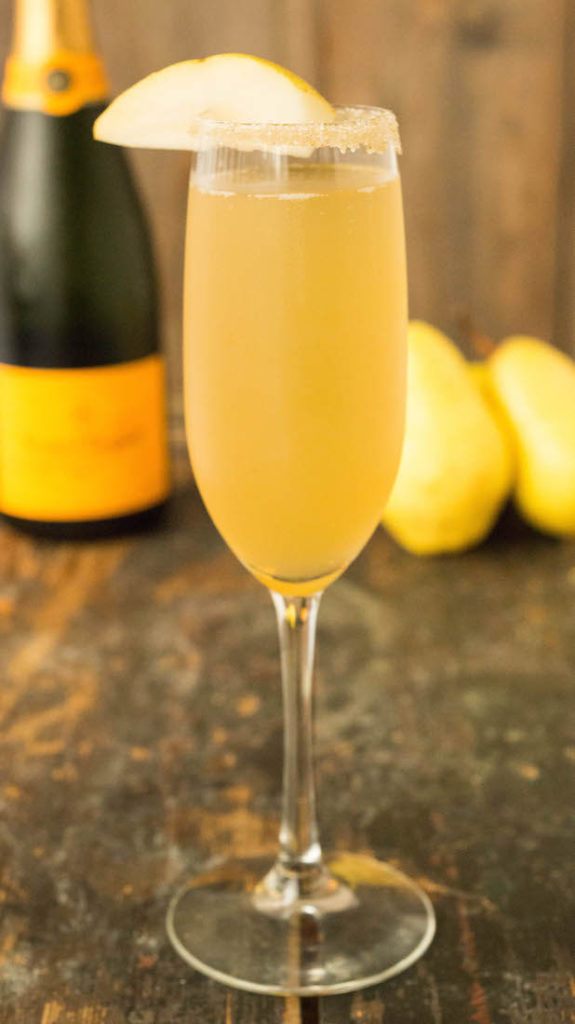 Vanilla Bean Pear Mimosa - Fall Mimosas 4 Ways