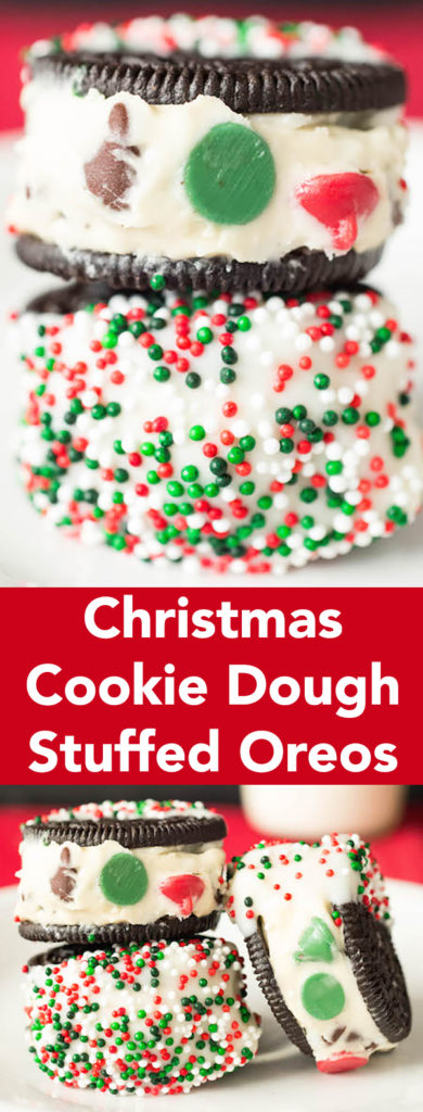 Christmas Cookie Dough Stuffed Oreos Recipe - Christmas Dessert Recipes