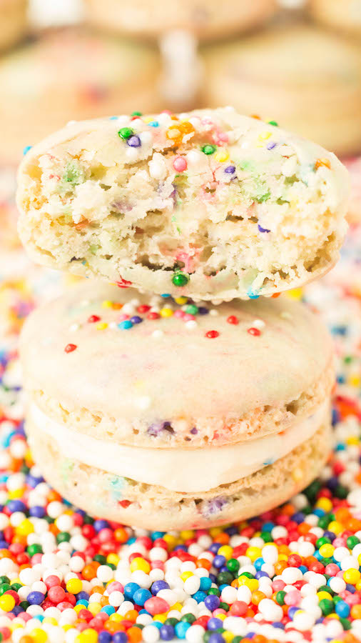 We celebrate our second birthday by showing you how to make funfetti macarons.