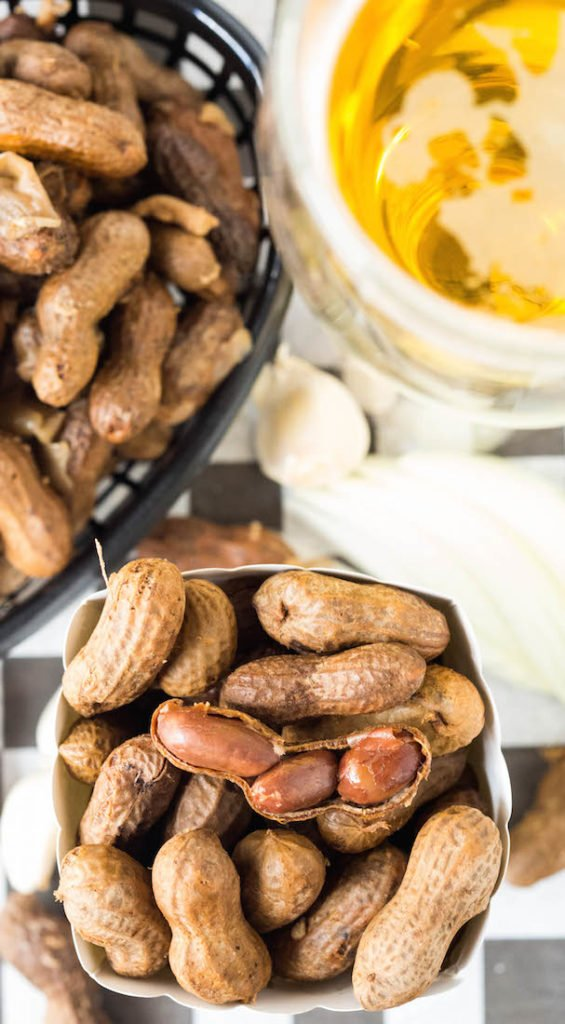Crock Pot Beer Boiled Garlic Peanuts - Our Best Game Day Recipes