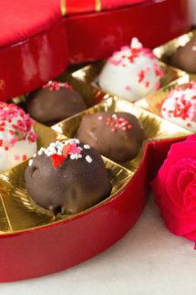 Valentine's Day Ice Cream Gelato Truffles