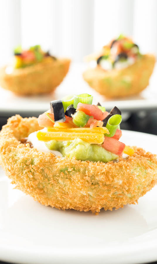 7 Layer Dip Stuffed Fried Avocados - Our Best Game Day Recipes