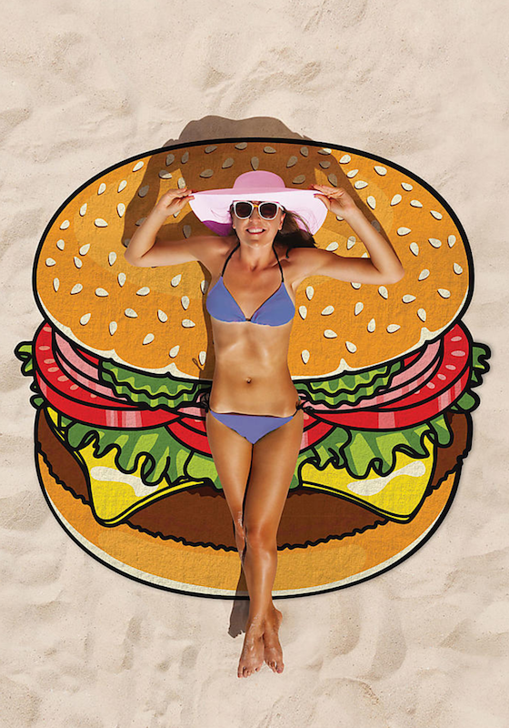 Giant Cheeseburger Beach Towel