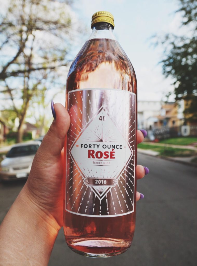 Forty Ounce Rosé Bottles
