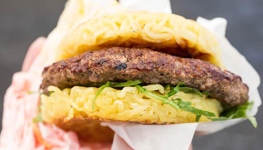 The Ramen Burger - Best Food at Smorgasburg LA
