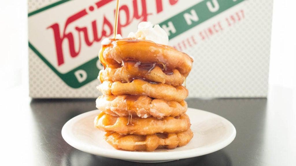 Leftover Krispy Kreme Glazed Donut Waffles