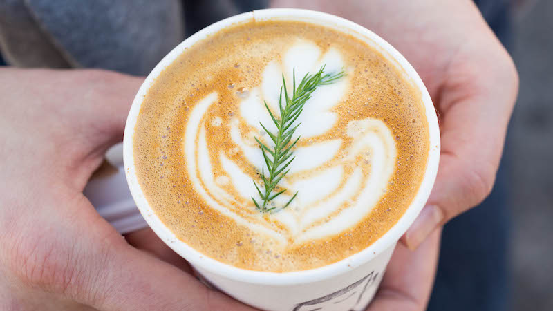 Evergreen Latte at Stand Coffee - Smorgasburg Los Angeles