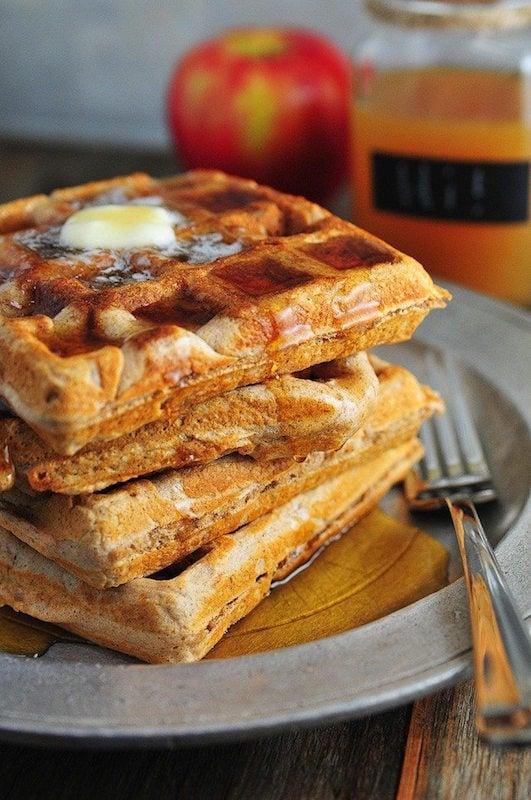 Apple Cider Waffles - Fall Breakfast Recipes
