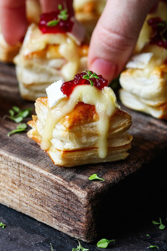 Cranberry & Brie Bites - Fall Appetizer Recipes