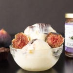 Mascarpone Ice Cream with Mini Dark Chocolate Almond Butter & Fig Jam Cups