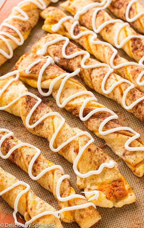 Pumpkin Pie Twists - Fall Dessert Recipes