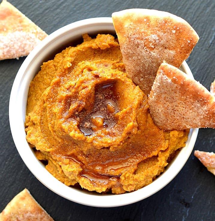 Pumpkin Hummus - Fall Appetizer Recipes