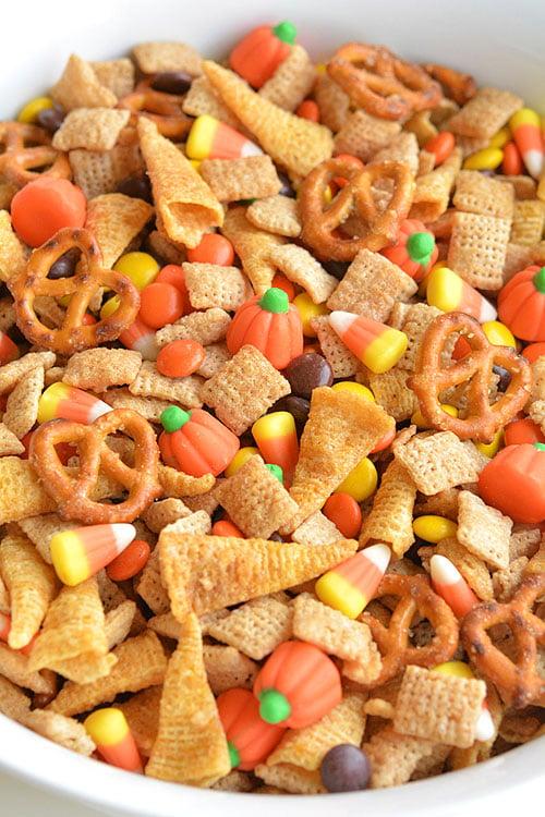 Harvest Hash Fall Chex Mix - 100+ Fall Recipes