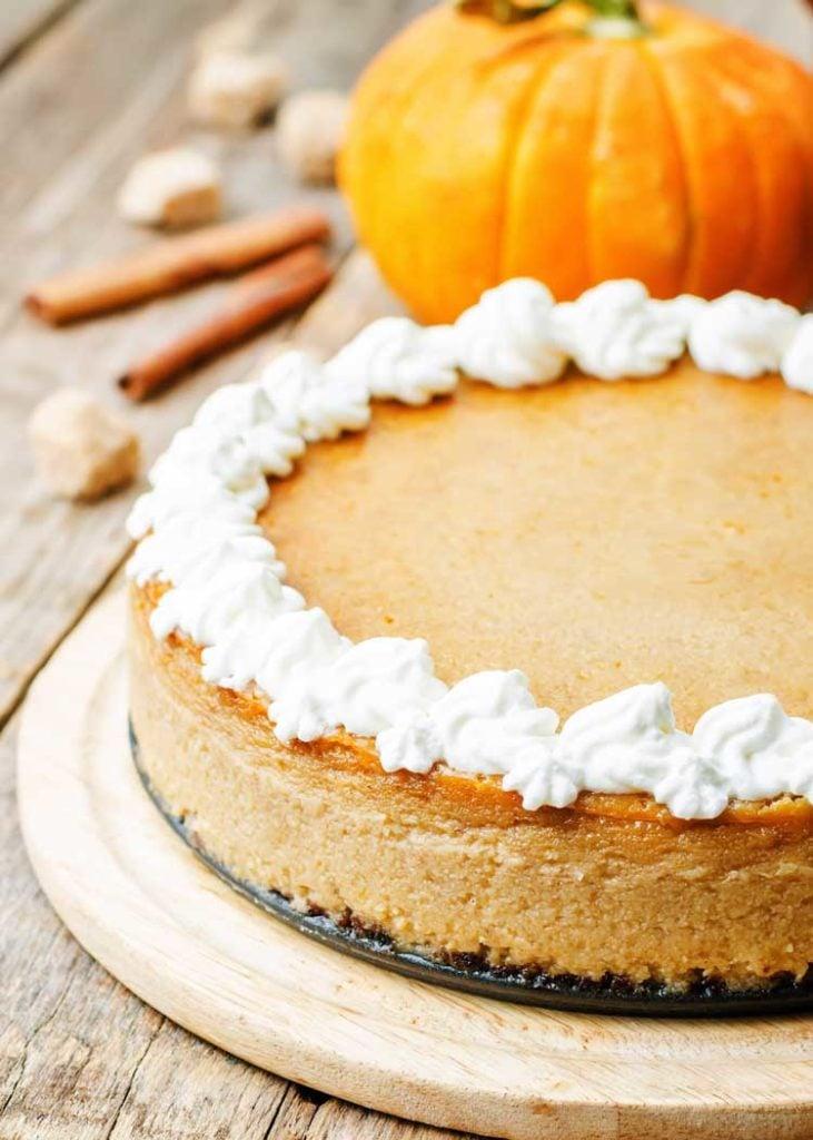 Copycat Cheesecake Factory Pumpkin Cheesecake - Fall Dessert Recipes