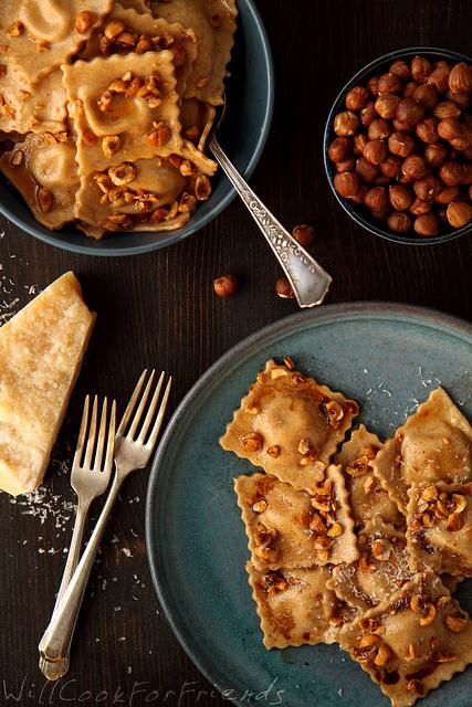 Pumpkin Ravioli - Fall Dinner Recipe - 100+ Fall Recipes