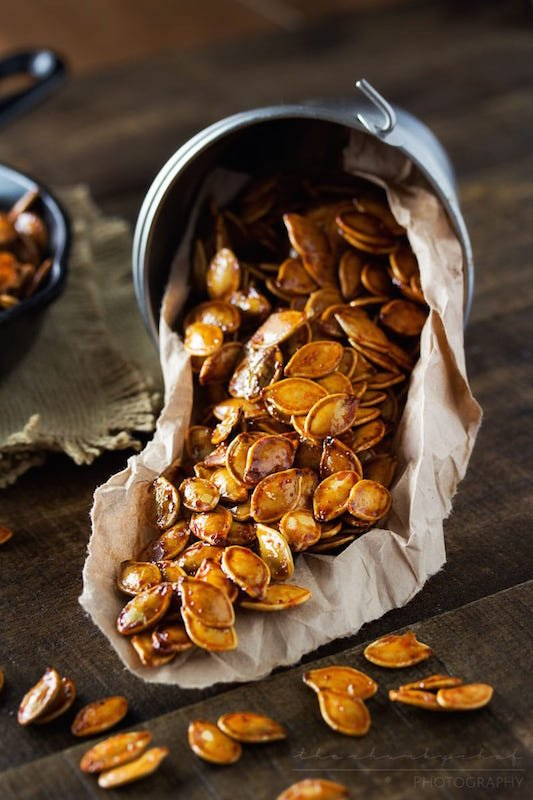Spiced Honey Roasted Peanuts - Fall Appetizer Recipes