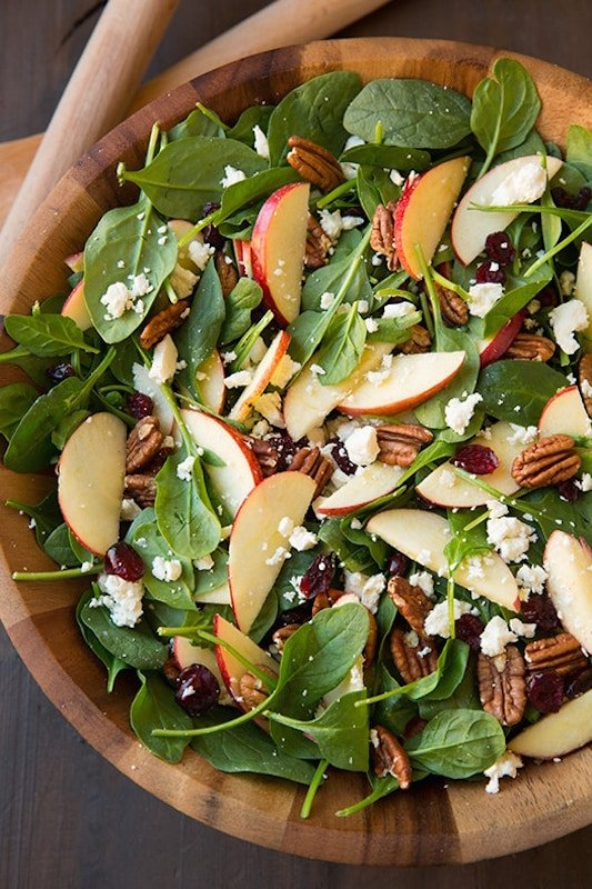 Apple Pecan Feta Fall Salad Recipe - Healthy Fall Recipes