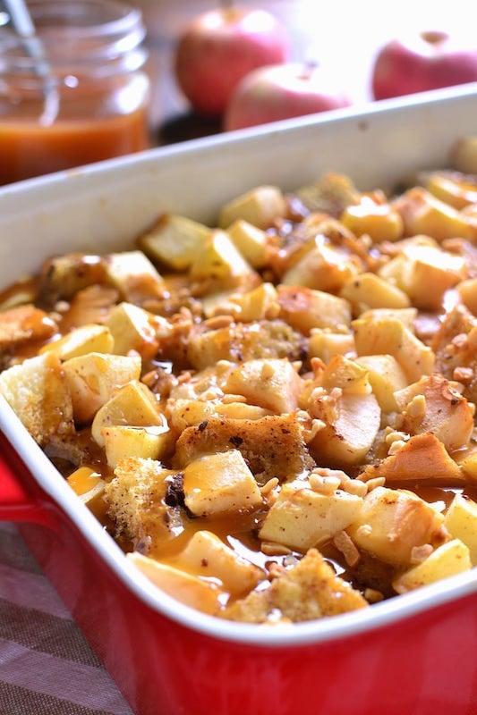 Caramel Apple French Toast Casserole - Fall Breakfast Recipes
