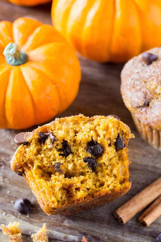 Pumpkin Chocolate Chip Muffins - Fall Dessert Recipes