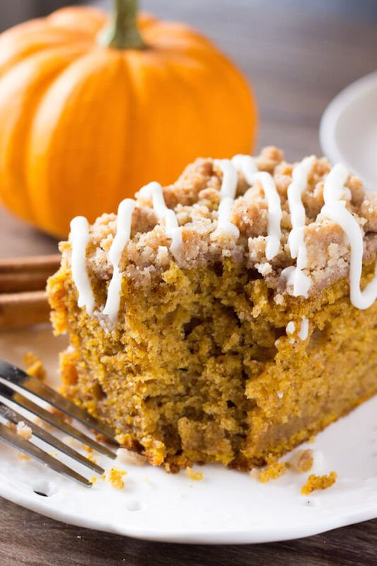 Pumpkin Coffee Cake - Fall Dessert Recipes