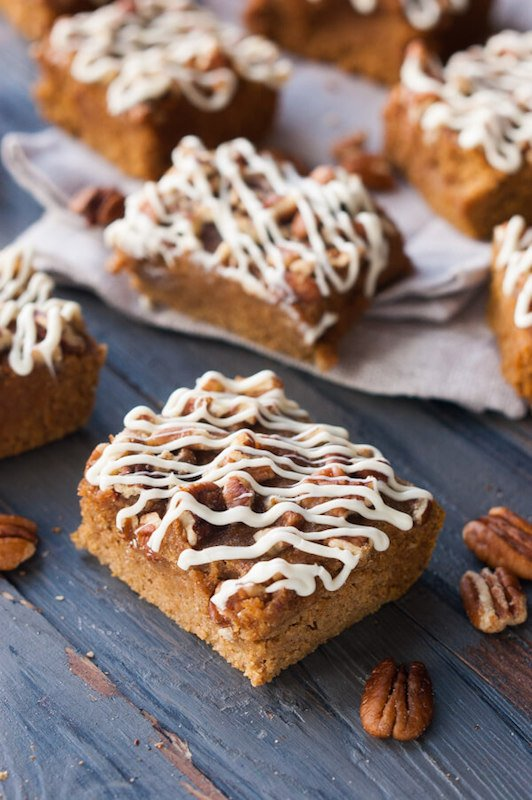 Pumpkin Protein Bars - Healthy Fall Recipes