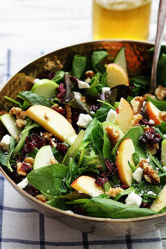 Apple Cranberry Walnut Salad - Healthy Fall Recipes
