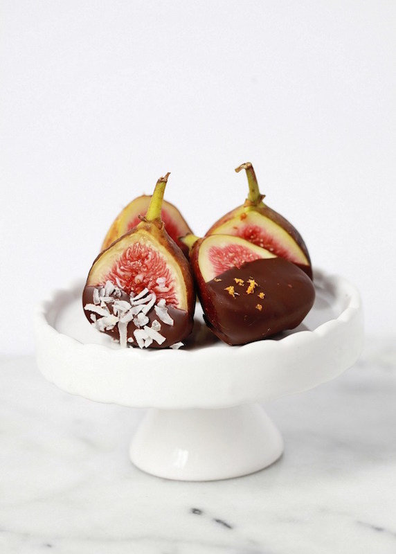 Grand Marnier Soaked Chocolate Dipped Figs - Fall Dessert Recipes