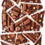 Leftover Halloween Chocolate Candy Bark - Fall Dessert Recipes