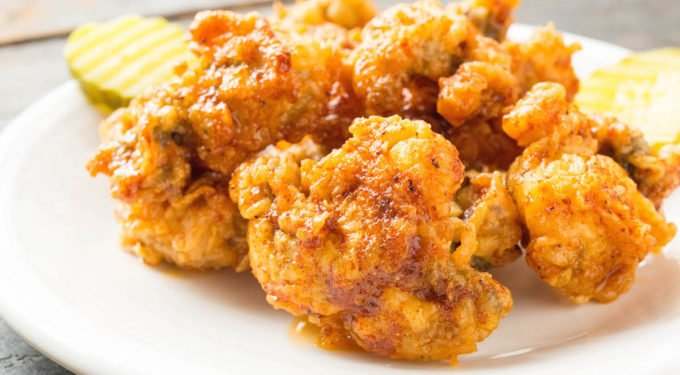 Nashville Hot Fried Oysters