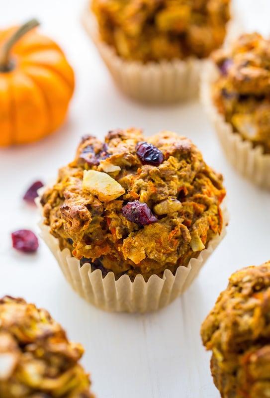 Pumpkin Morning Glory Muffins - Fall Breakfast Recipes