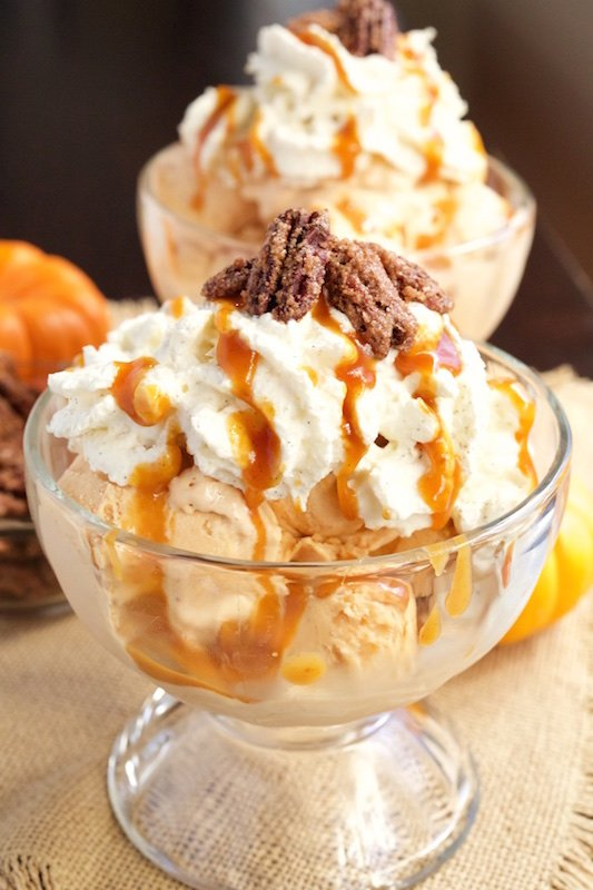Pumpkin Pie Ice Cream Sundae - Fall Dessert Recipes