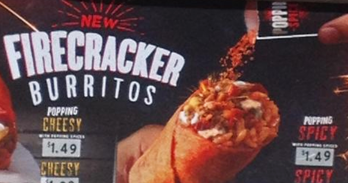 Taco Bell Firecracker Burrito with Spicy Pop Rocks